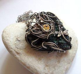 Romantyczny srebrny naszyjnik