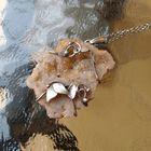 Srebrny naszyjnik z agatem z druzą (5)