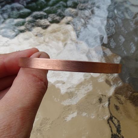 Bransoletka miedziana - matowa 6mm (1)