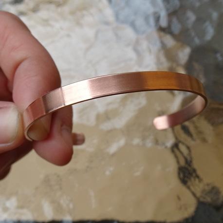 Bransoletka miedziana - gładka 6mm (1)