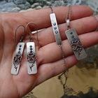 Srebrny naszyjnik z cyrkoniami i koniczynką (2)