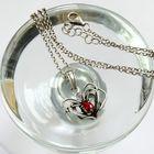Srebrny naszyjnik serduszko z cyrkonią (6)